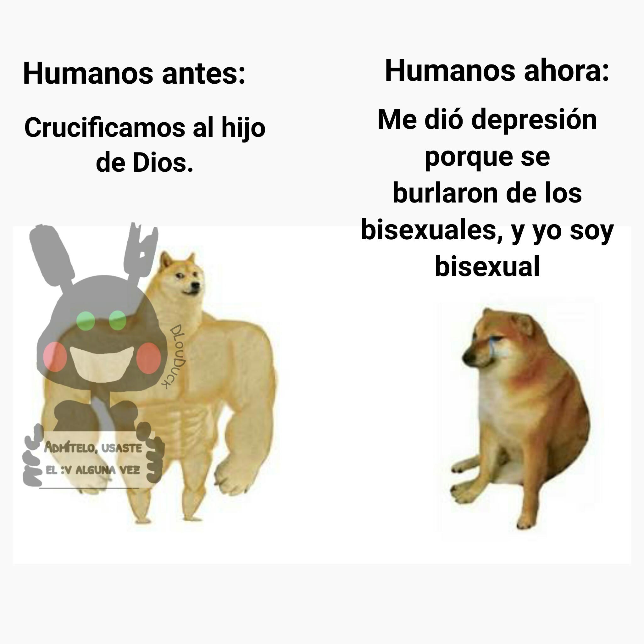 No digas tener depresión y fingir ser bisexual para sobresalir - meme
