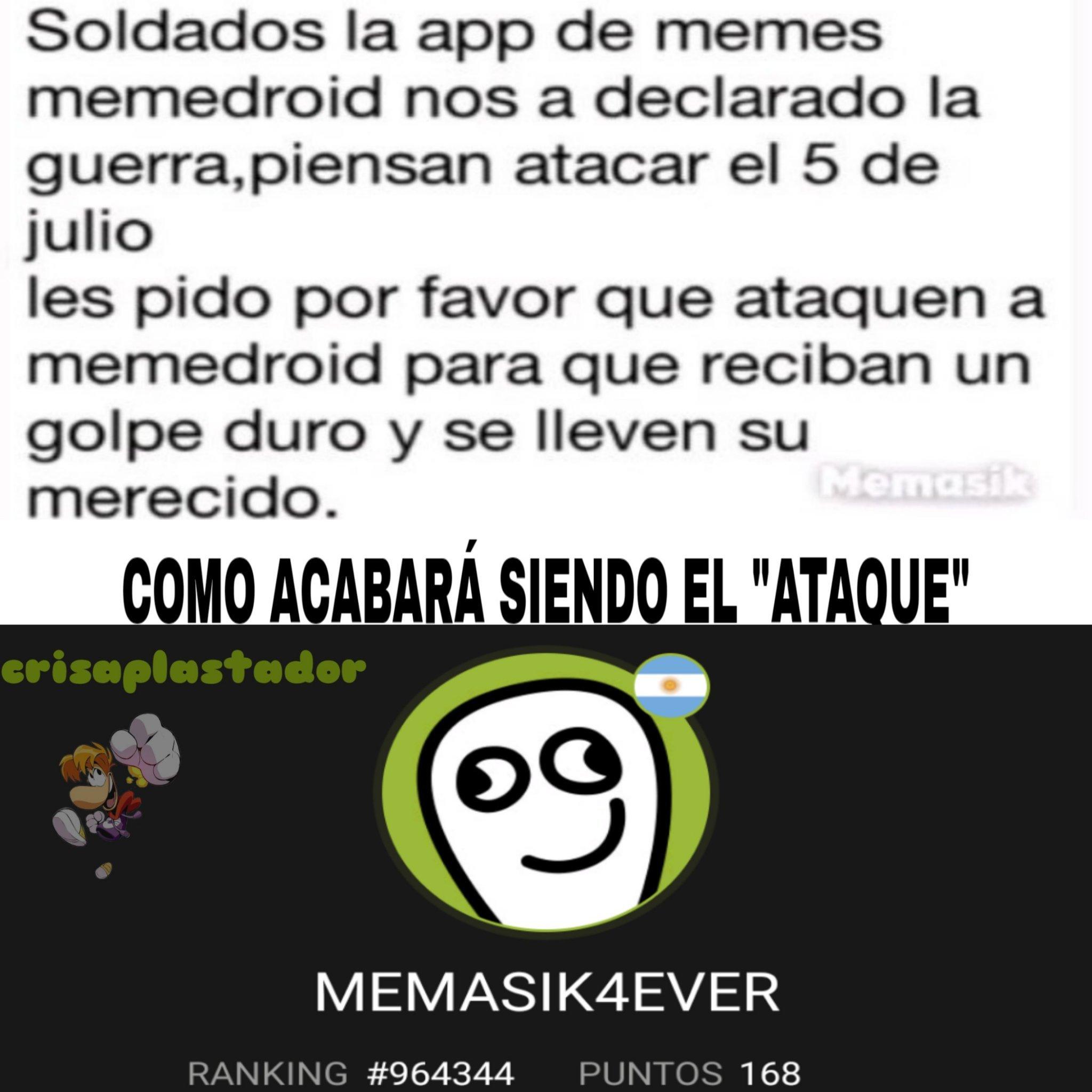 Menudos imbéciles los de memasik - meme