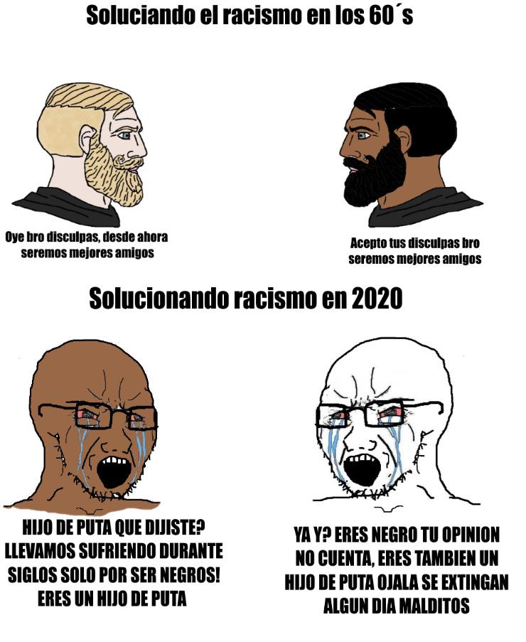 Los gringos son de lo peor hablando de racismo. CHANGE MY MIND - meme