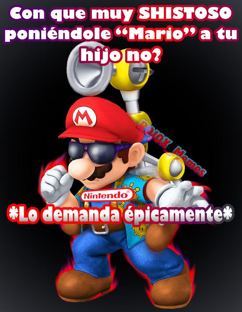 Perfecto para los que quieren llamar Mario a su hijo :trolldad: P.D: si asies, también quería hacer un meme así :cool: