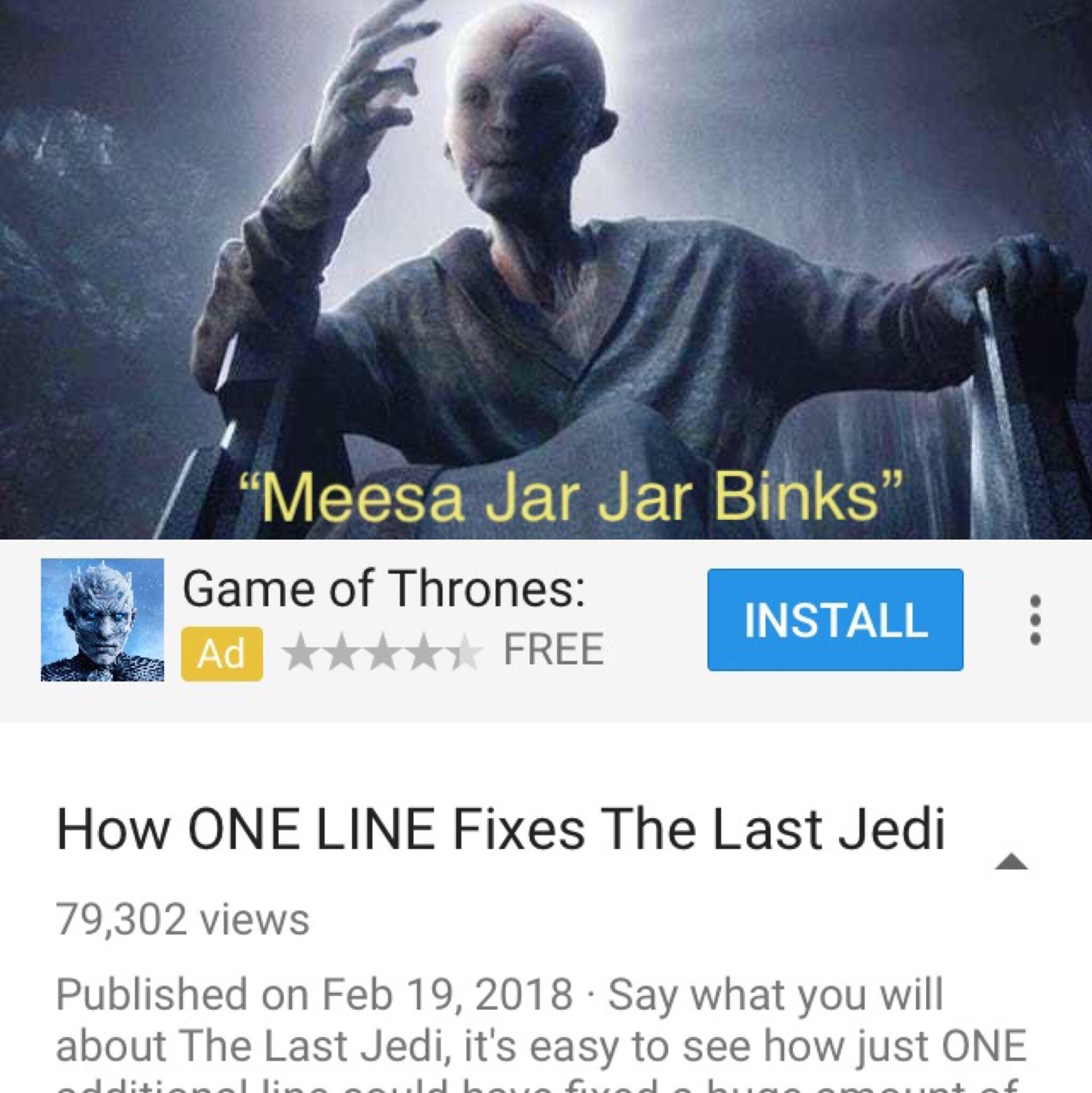 The Last Jedi was good - meme