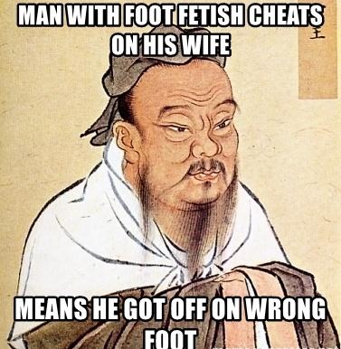 foot fetish=worst fetish - meme