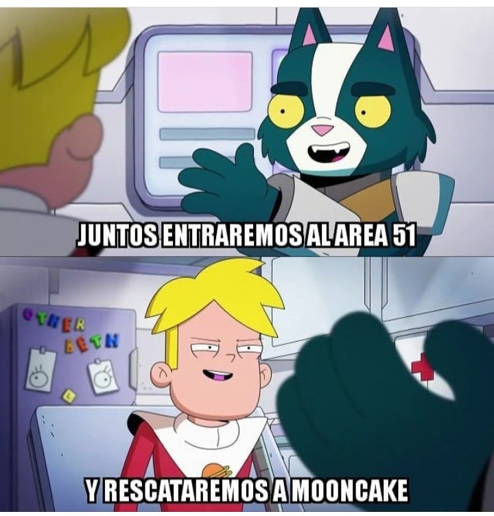 Final space área 51 - meme
