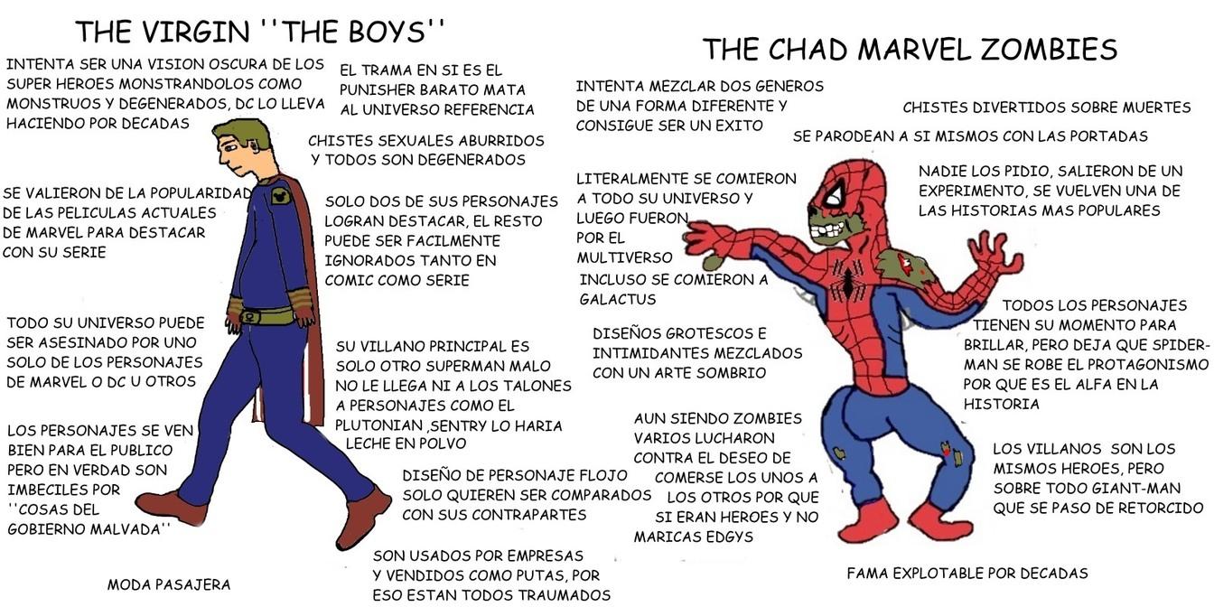 No voy a comparar a the boys con otra historia, se imaginan como quedarian comparados con marvel ruins? - meme
