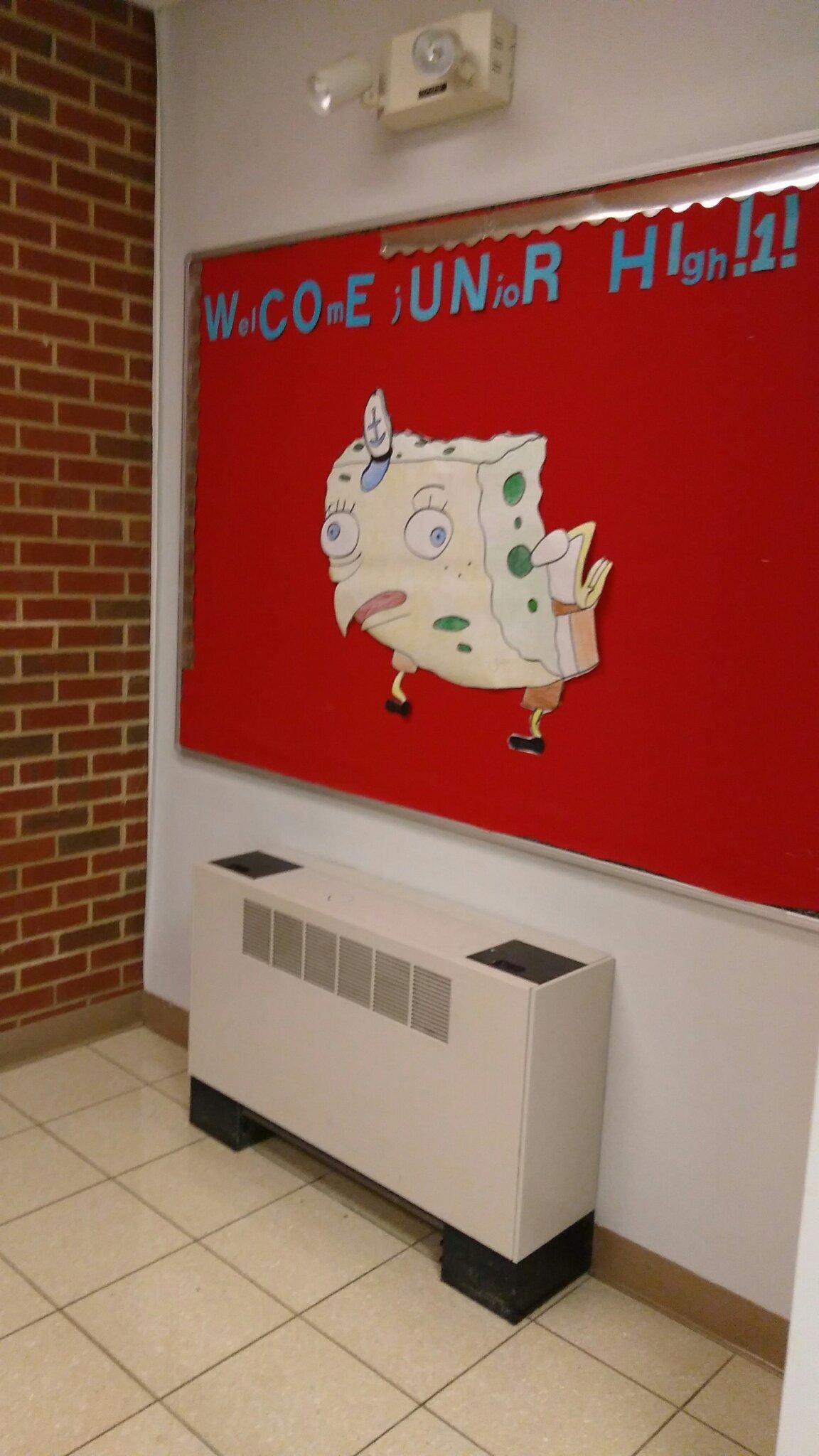 My school loves spongebob memes.
