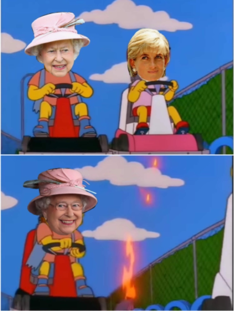 rip the queen for tomorrow - meme