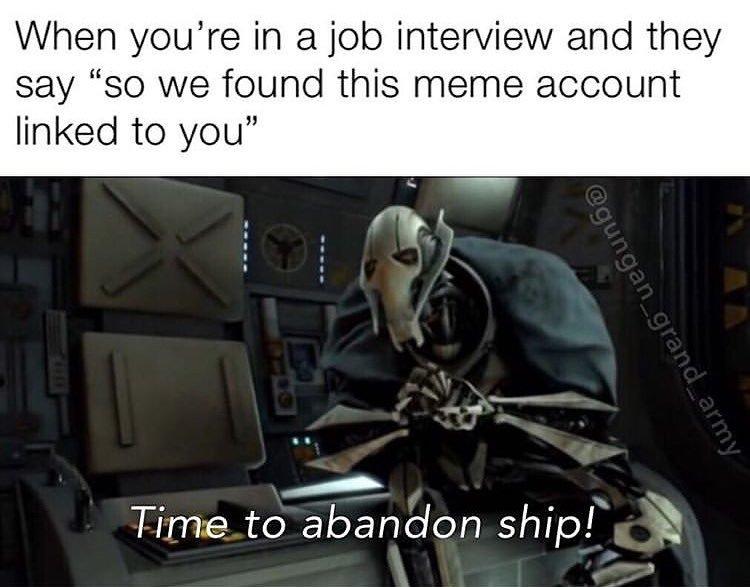abandon ship - meme