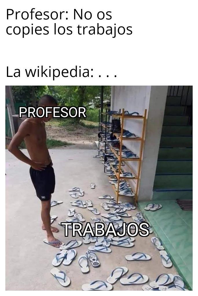 Wikipedia al poder - meme