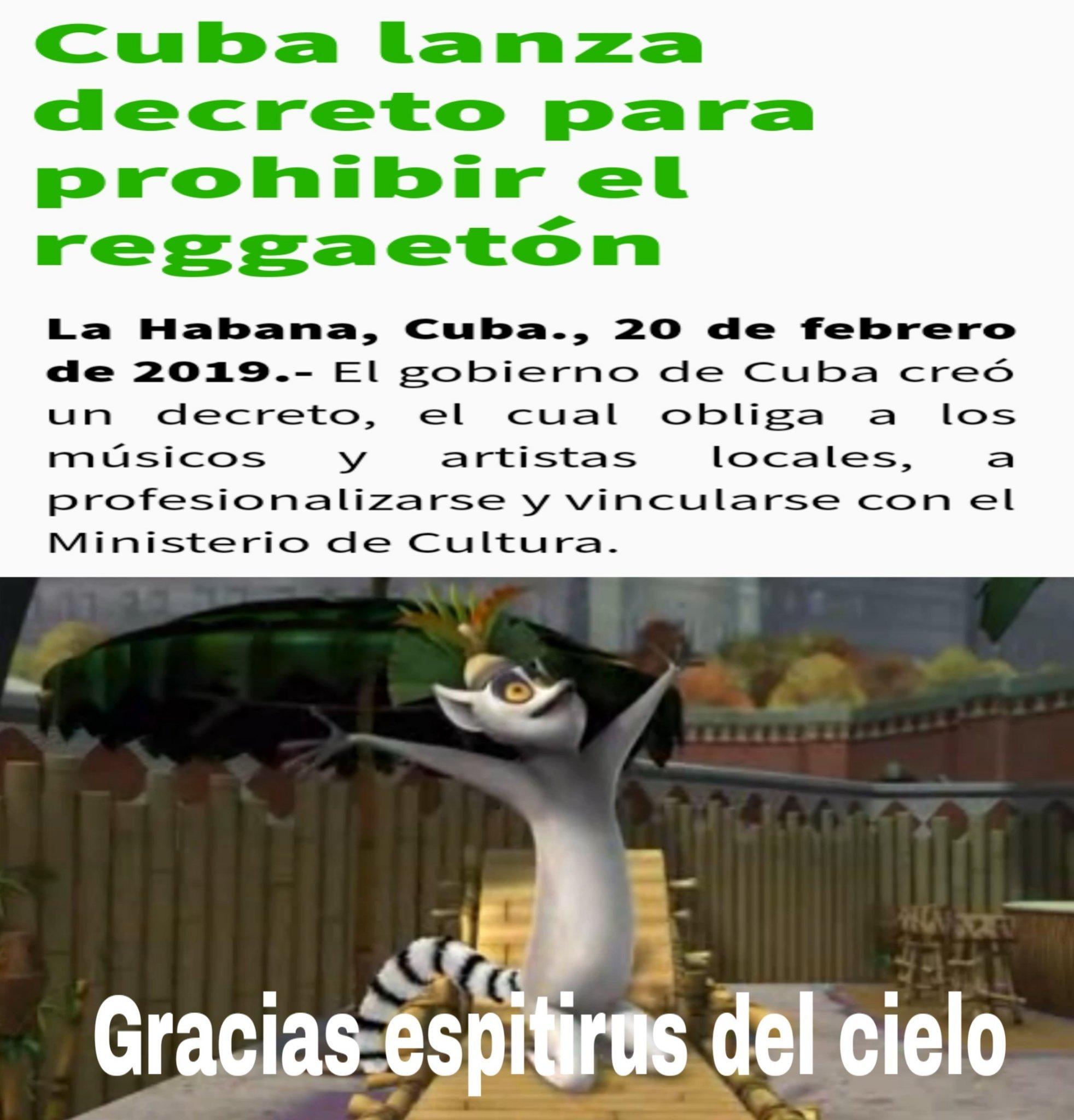 Cuba es inteligente se como cuba - meme