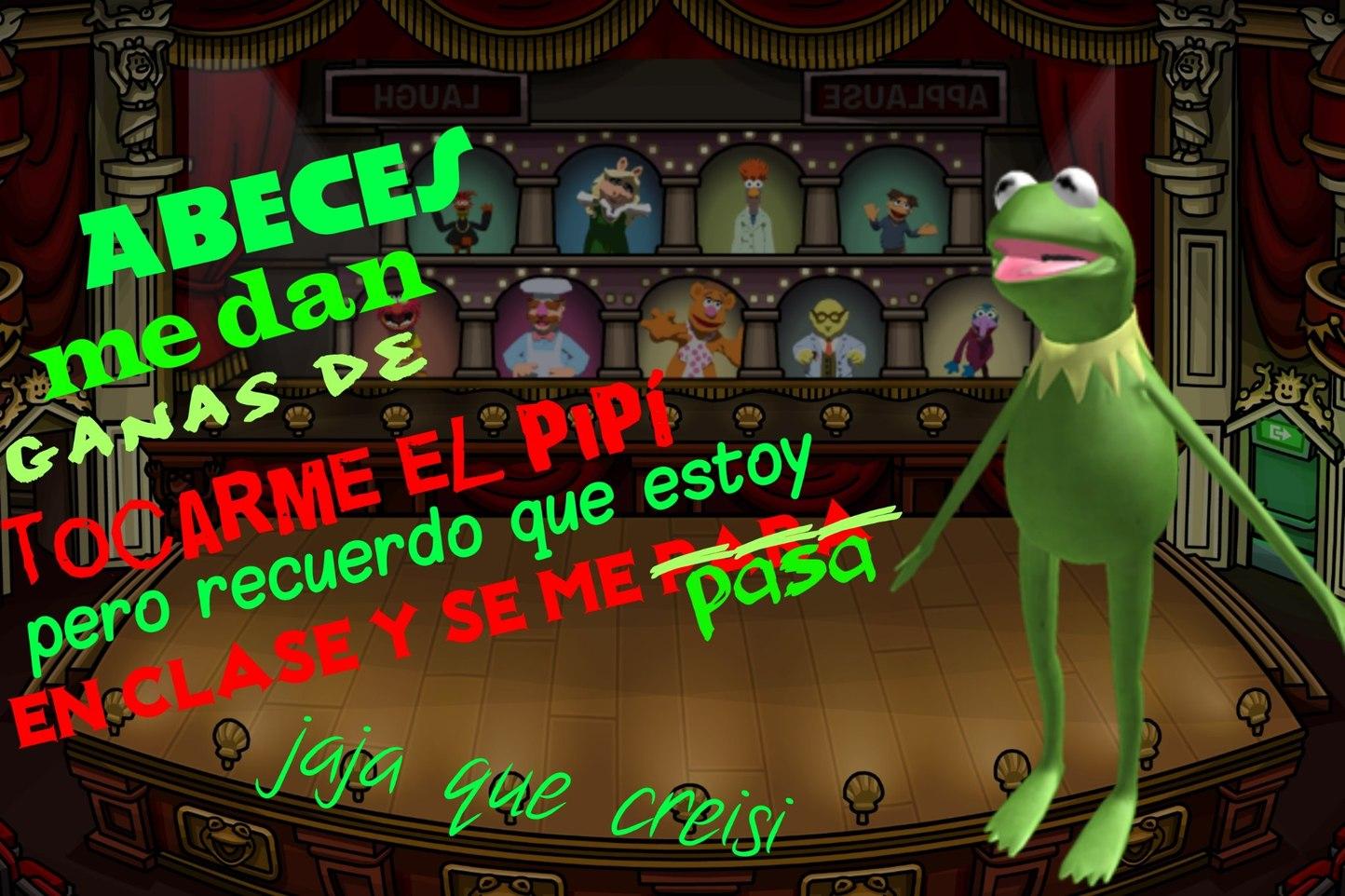 Kermit la p̶a̶j̶a̶ rana - meme