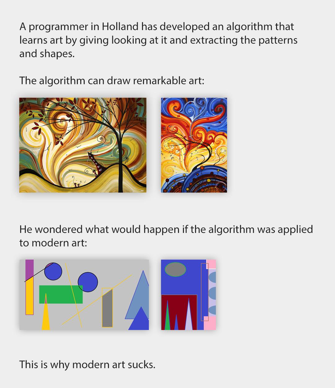 Modern art in a nutshell. ¤ - meme