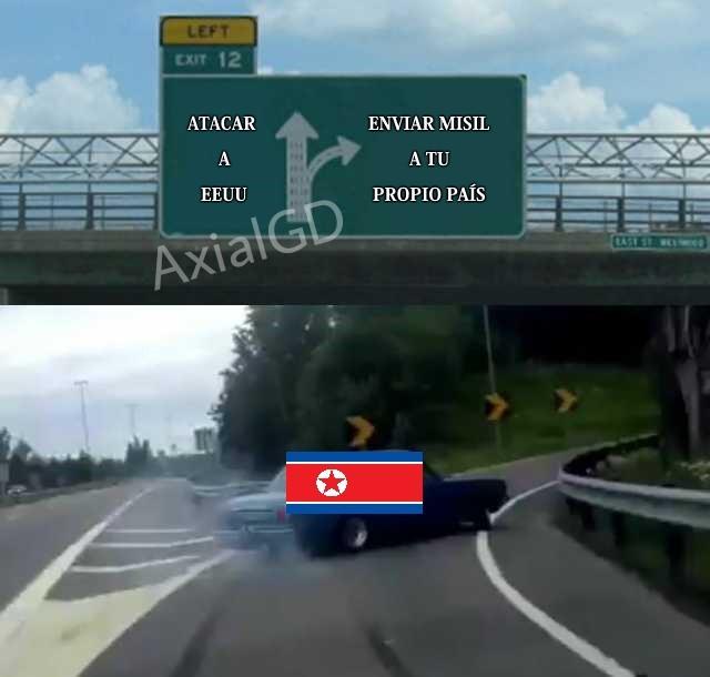 Corea del Norte y sus misiles - meme