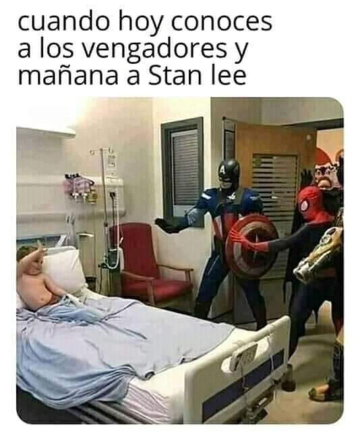 Bien voy a conocer a Stan Lee¡¡¡¡¡¡¡¡¡!!! - meme