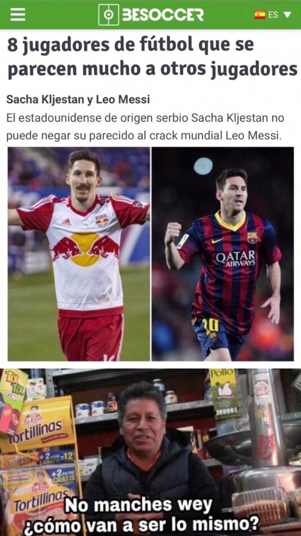 Multiverso Futbolístico - meme