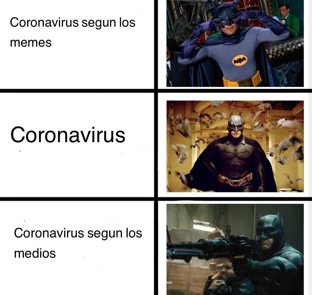 No me la creo mi gente Batman es el coronavirus - meme