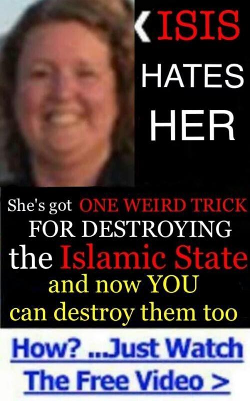 isis hate her - meme