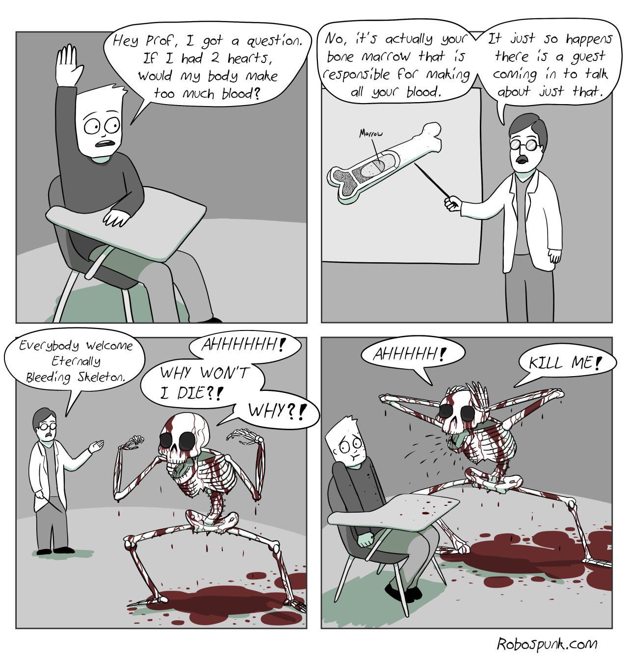Poor skeleton.. - meme