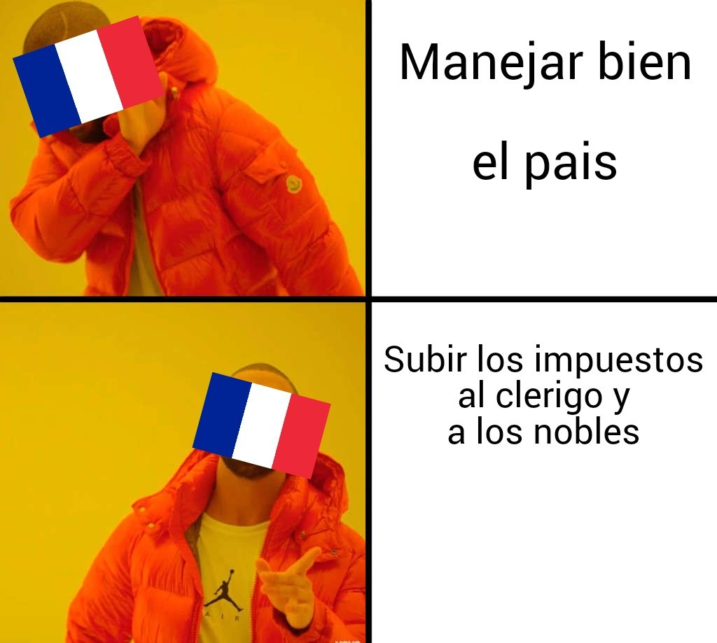 Las decisiones de Louis XVI - meme