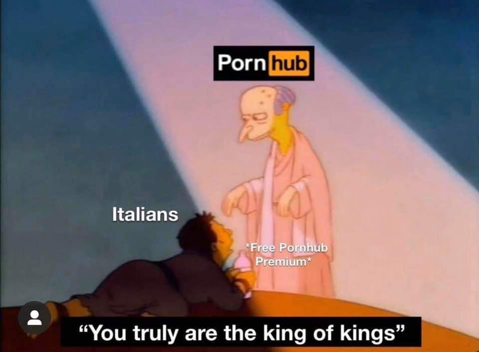 i guess i'm italian now - meme