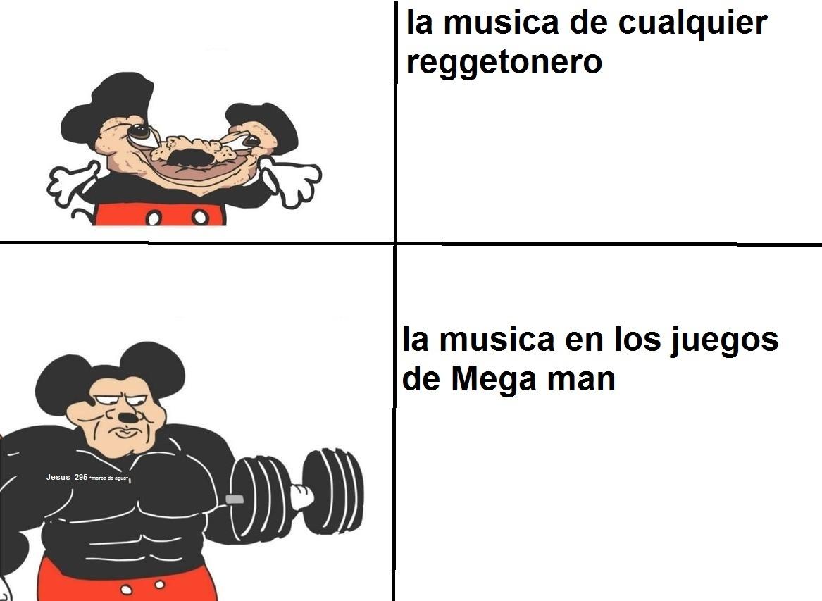 temazo la musica en los juegos de mega man - meme