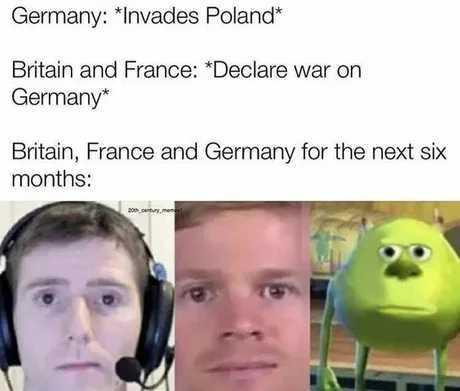 Sitzkrieg - meme