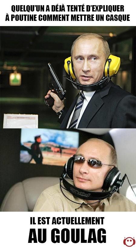 Putine et les casques belle histoire dam4 - meme