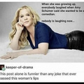 Amy Schumer is the most unfunny person change my mind