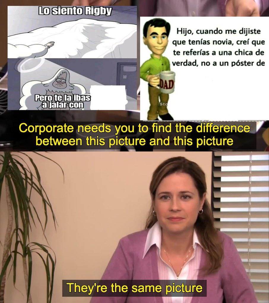 Son la misma poronga: poner un personaje femenino animado y ya tenemos una obra maestra - meme