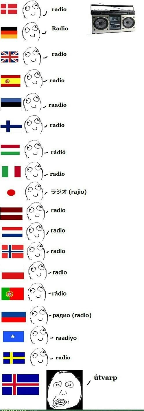 Différences linguistiques: Radio :happy: - meme