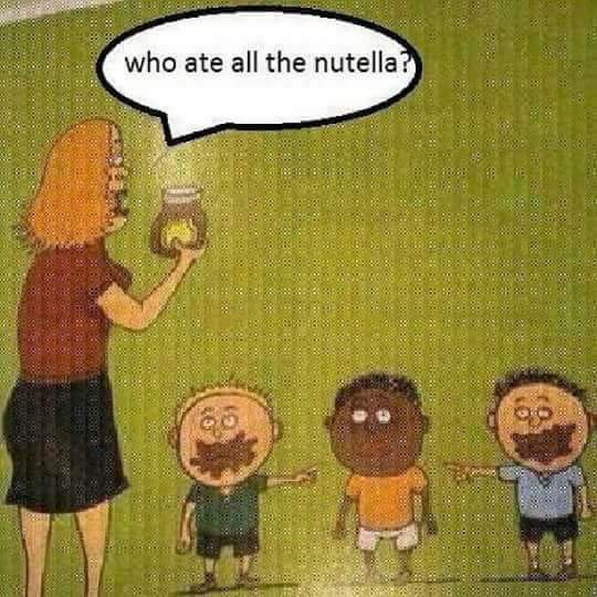 Obviously the kid in the middle - meme