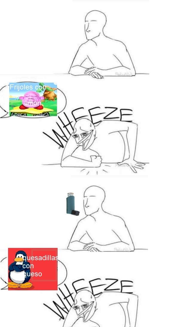 El colmo y vida cotidiana de un asmatico - meme
