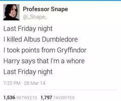 Another Harry Potter song by Snape  - meme