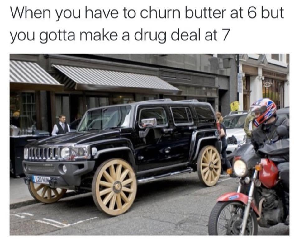Butter churning - meme