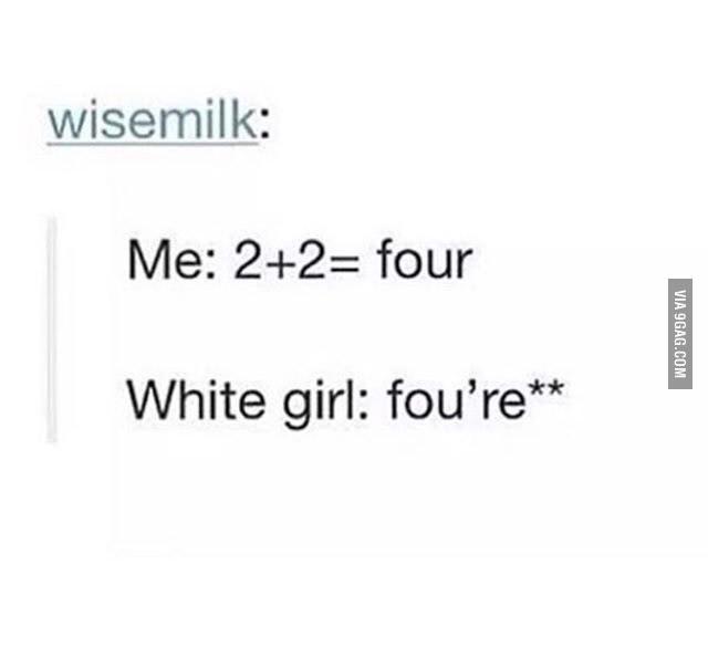 Damm white people - meme