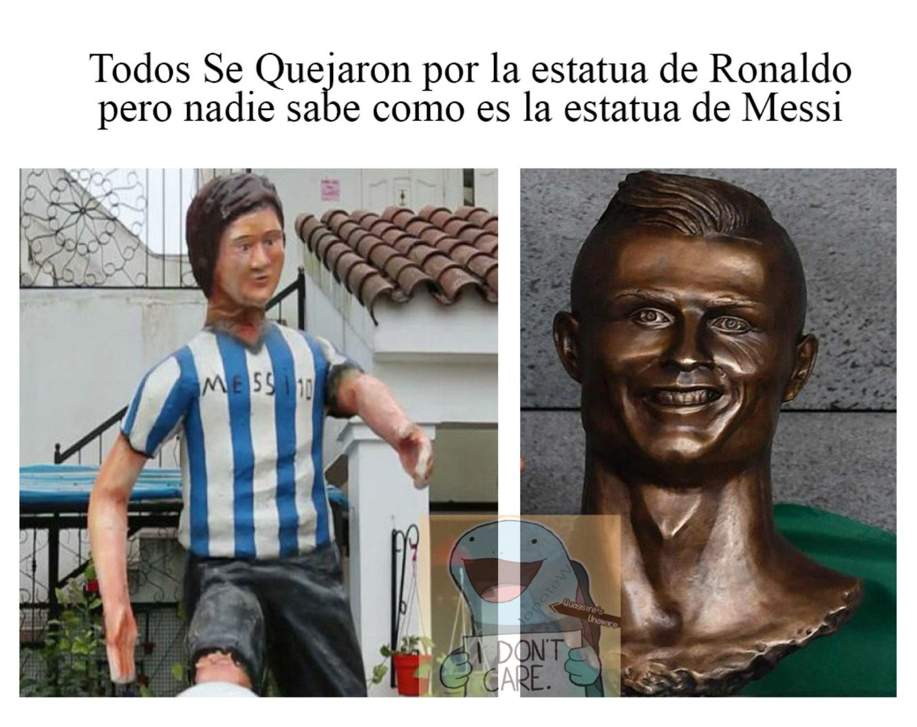 Nadie sabe como es Messi :v - meme