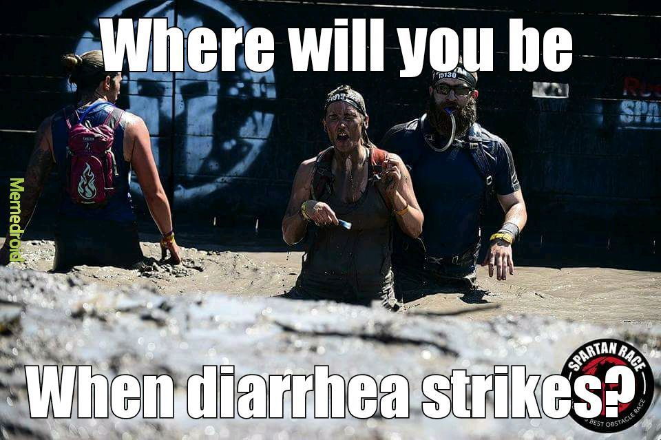 Me and my sister's Spartan race - meme