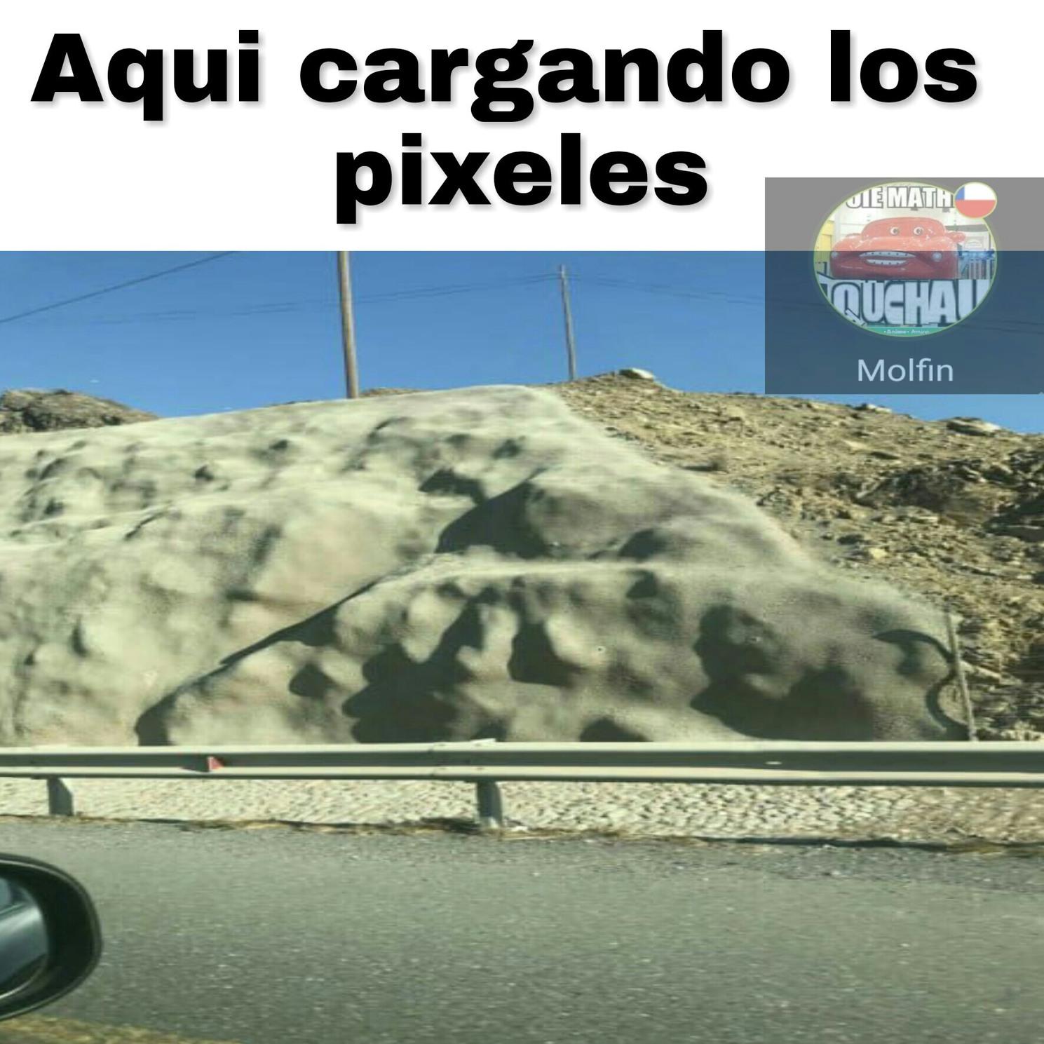 Cargando pixeles - meme