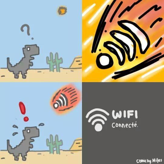 Extinction du google dino - meme