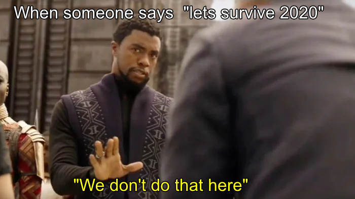 We do not survive 2020 - RIP - meme