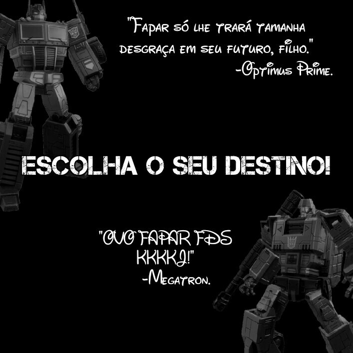 Choose your side! Choose your destiny! - meme