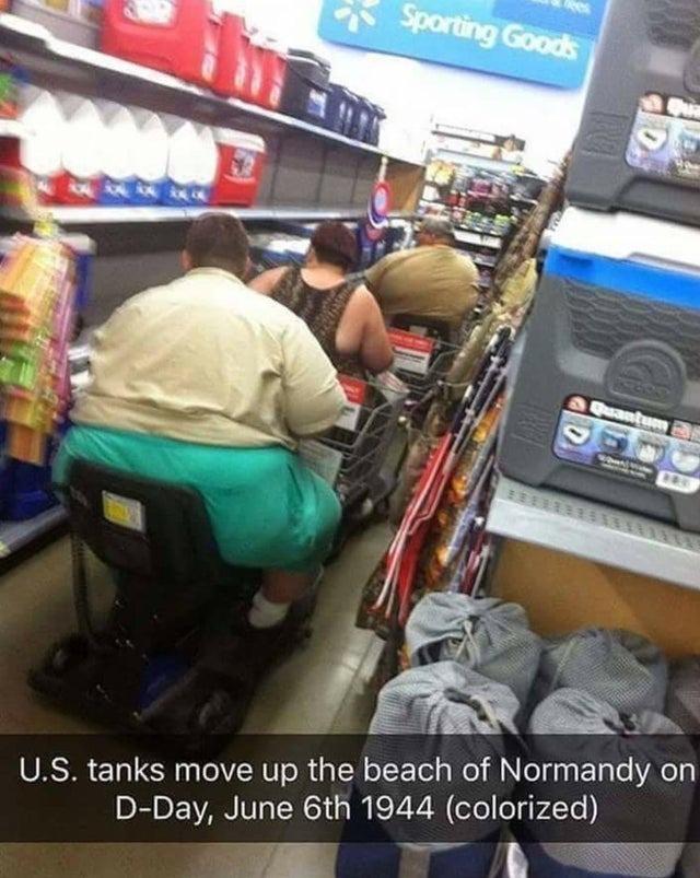 Reunion de tankes, dia-d, a color, junio 6 1944 - meme