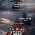 donating 1,000,000