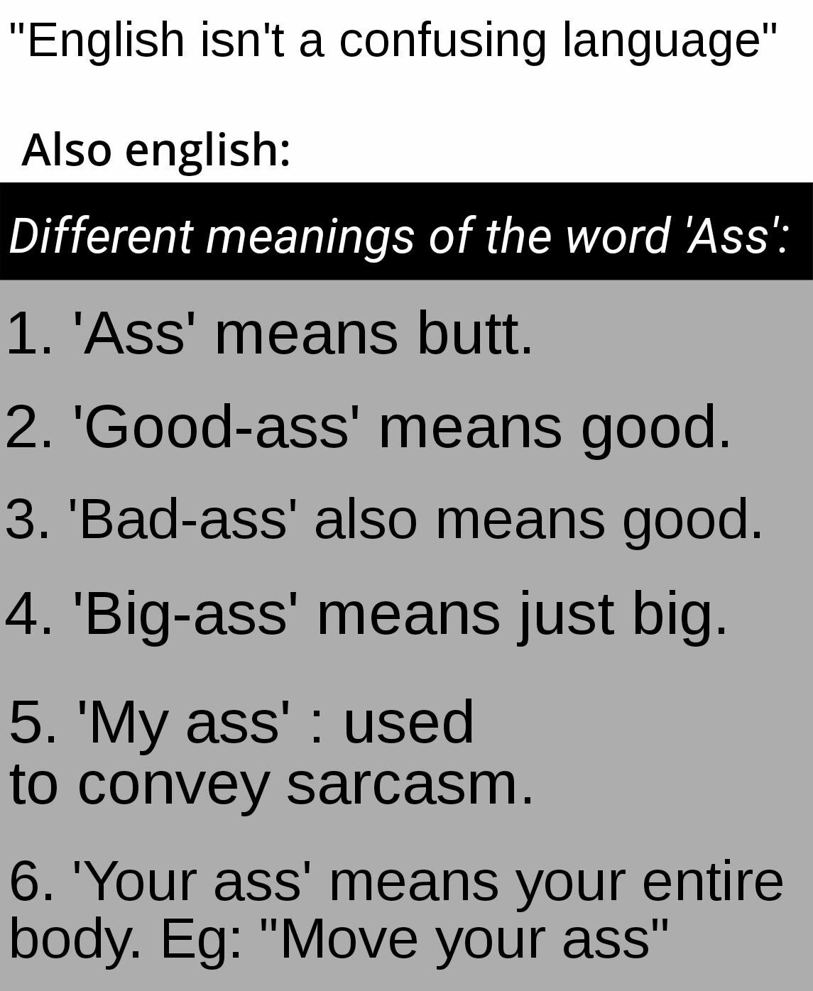 English is hard? My ass. - meme