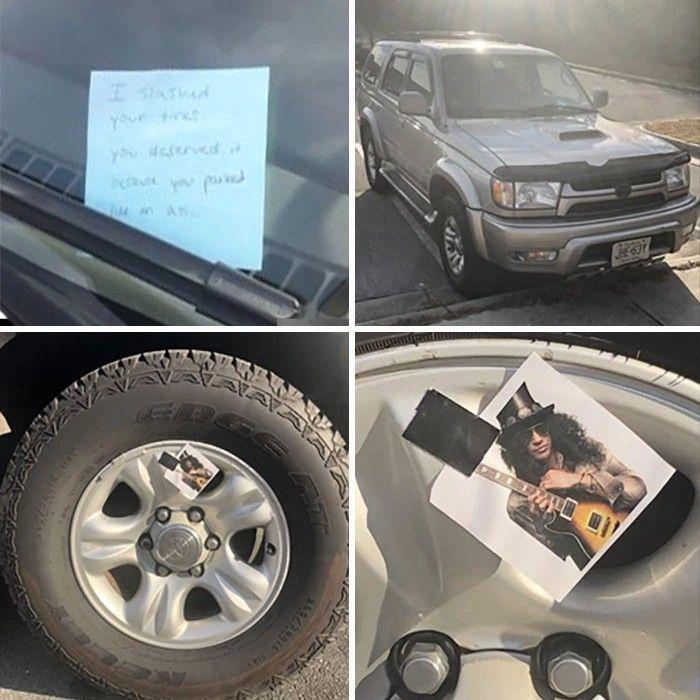 I slashed your tires - meme