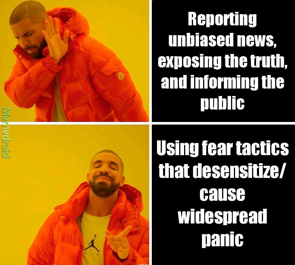 News companies be like - meme