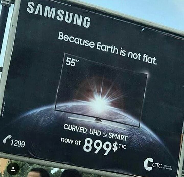 Samsung is spreading lies, the Earth is obviously a dodecahedron - meme