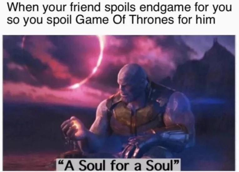 A soul for a soul - meme