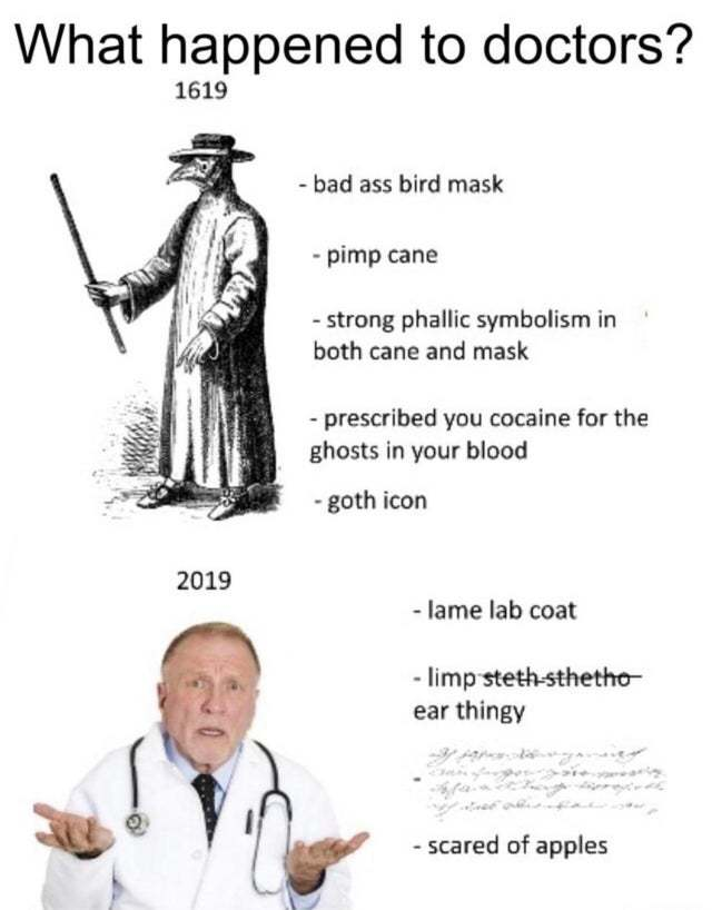 What happened to doctors? - meme