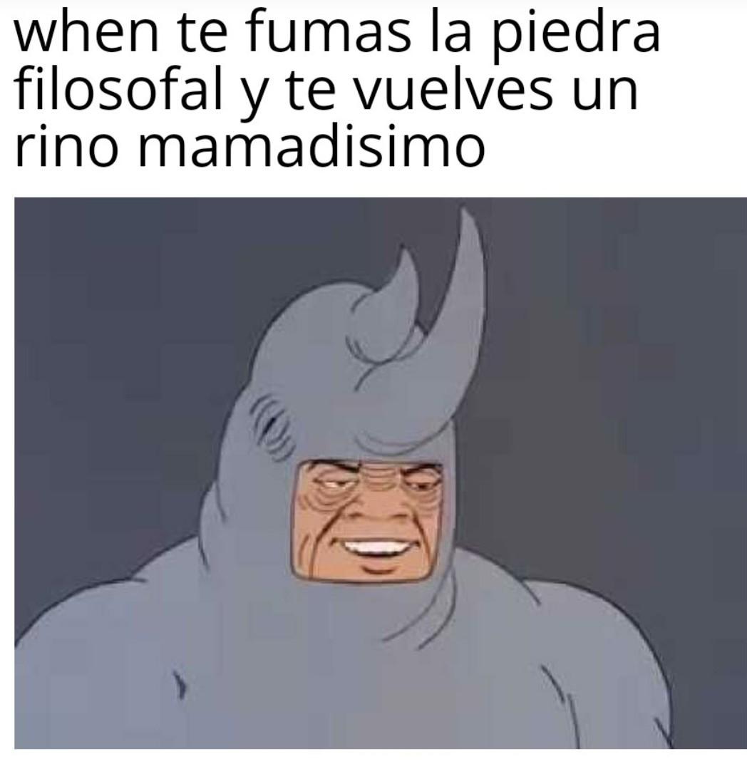 Rhino mamadisimo - meme