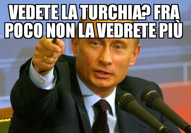 Putin vs Turchia - meme